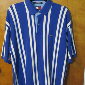 Tommy Hilfiger Striped Polo Shirt XL